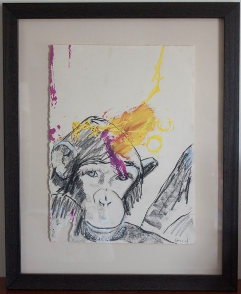 Chimp and human collaborative painting