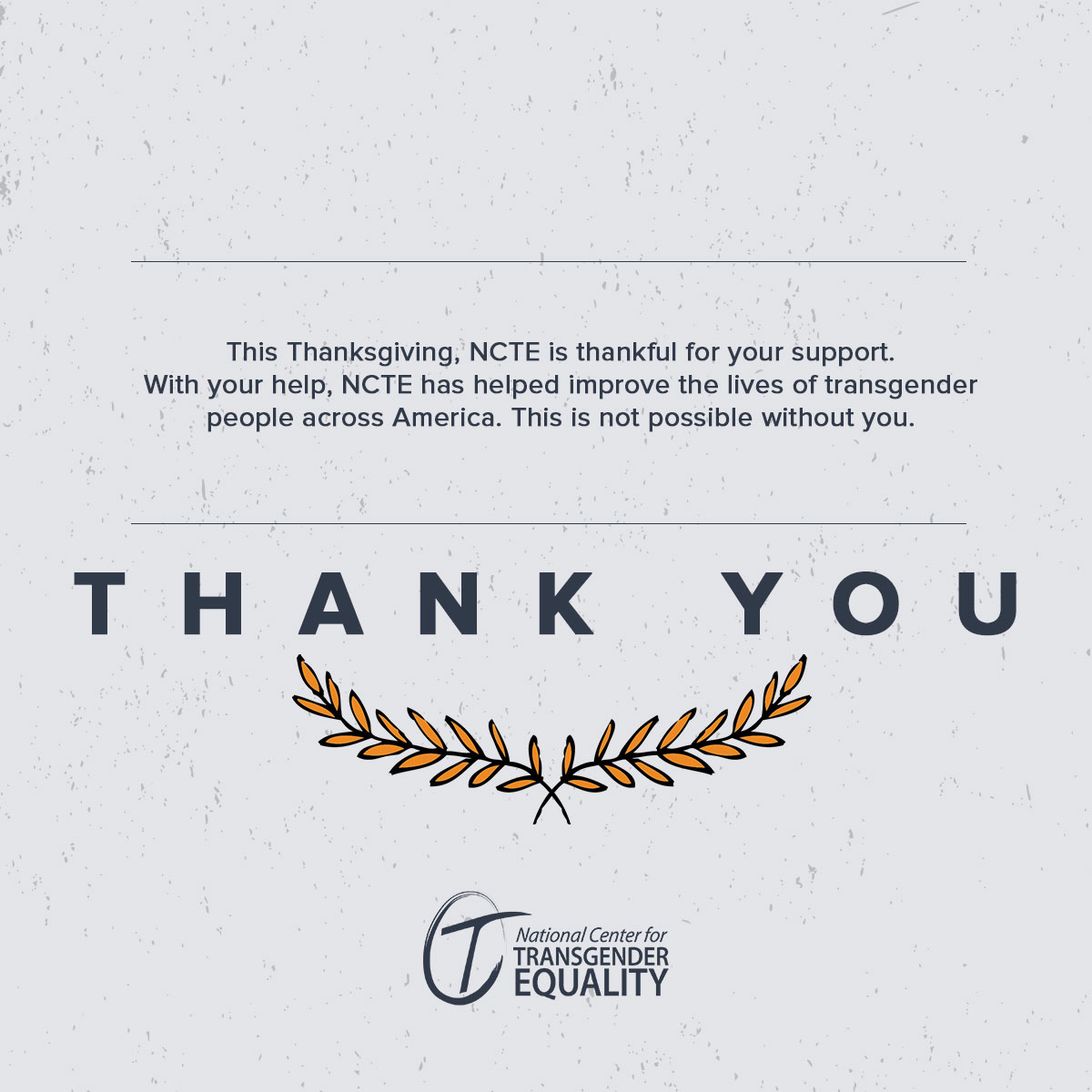This Thanksgiving, NCTE is thankful for your support.