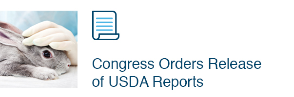 Congress Orders Release of USDA Reports