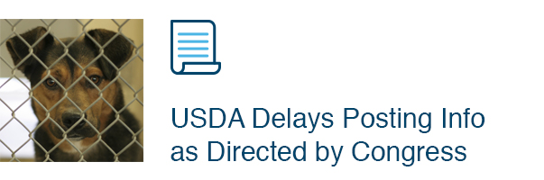 USDA Delays Posting Info as Directed by Congress