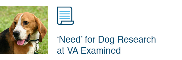 'Need' for Dog Research at VA Examined