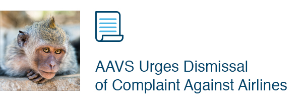 AAVS Urges Dismissal of Complaint Against Airlines