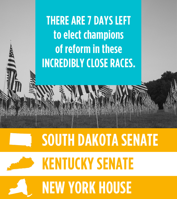 There are 7 days left to election champions of reform in these incredibly close races!