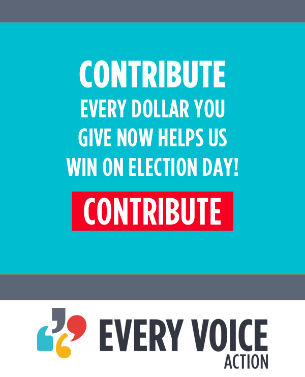Contribute! Every dollar you give now helps us win on election day!