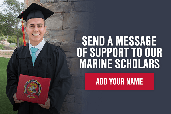 Send a Message of Support to Our Marine Scholars - Add Your Name